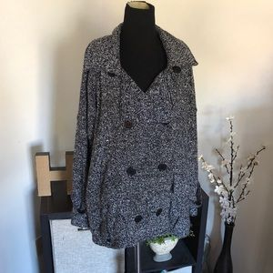 Free People Button Front Sweater Jacket